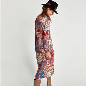 NWOT Zara patchwork dress